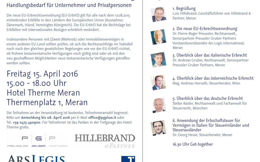 ARS-LEGIS: Die neue EU-Erbrechtsverordnung